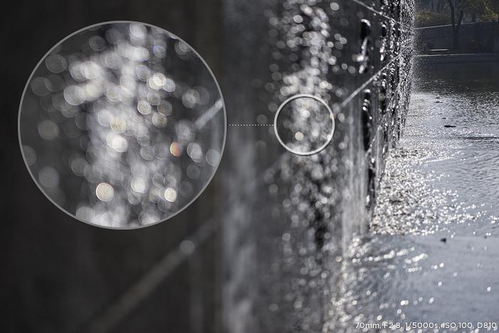 70mm, F2.8, 1/5000s, ISO 100, D810 샘플사진, 보케효과 부분 확대 이미지